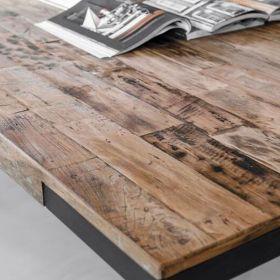 Table bois et fer teck et métal 240cm SWAN d-bodhi