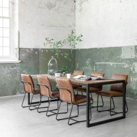 Table industrielle teck et métal 240cm SWAN d-bodhi