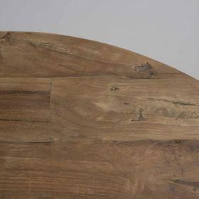 Table basses rondes teck et métal noir SWIN d-bodhi