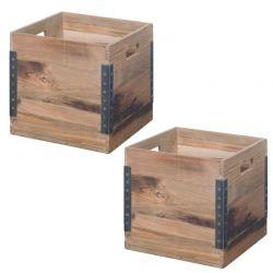Lot de 2 boîtes de rangement teck SWIN d-bodhi