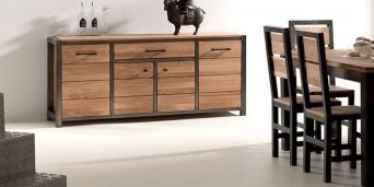 L'incontournable de votre pièce à vivre : le buffet en bois massif !